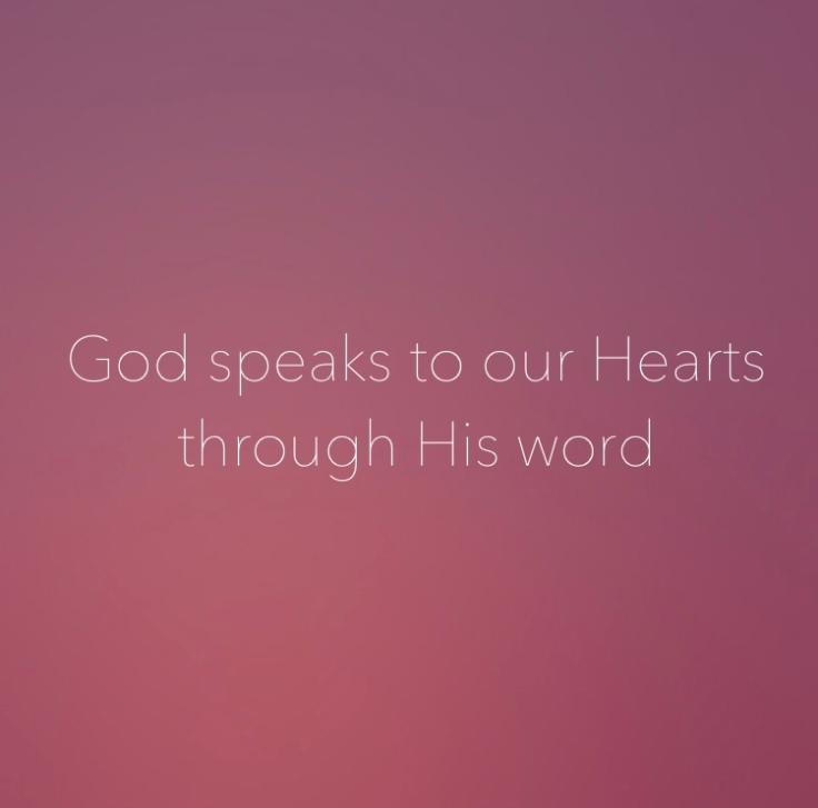 God speaks through His word blog post