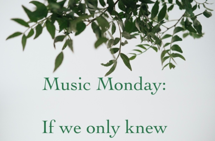 Music monday: if we only knew